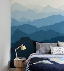 mountain mural bedroom wall murals you ll love mountain mural wall art wallpaper ocean blue l and stick