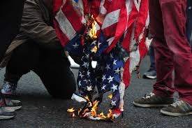 Burning Red Flag Flag Burning Is Trump Resistance Going Too Far