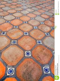 spanish tile floor stock image image 5563101