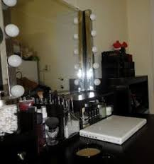 Makeup Vanity Table With Lights My Makeup Vanity Set Up With Diy Lighted Mirror The Shades Of U