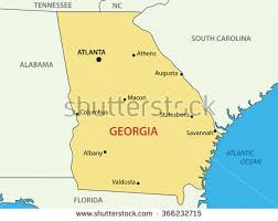 us map with atlanta us state map stock illustration 366232715