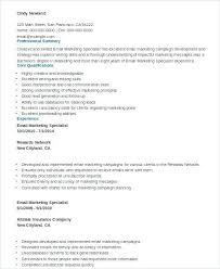 sample resume marketing executive fields related to marketing