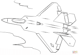 f 22 raptor coloring page free printable coloring pages