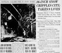 Worst Snowstorms In History Top 10 Snowstorms In Philadelphia History