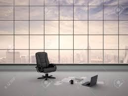 bureau vide illustration 3d de président de bureau dans un bureau vide banque