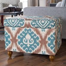 Ikat Storage Ottoman Cheap Storage Ottoman Blue Find Storage Ottoman Blue Deals On