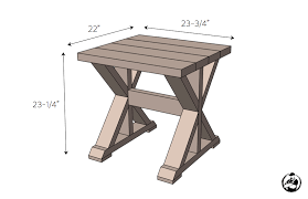 Wood Plans For End Tables by 20 Diy Side Table Plans Rogue Engineer