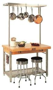 boos kitchen islands boos grande kitchen island w pot rack 48 in without drop