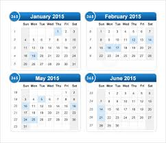 2015 calendar 6 free samples examples format