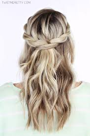 step by step braid short hair short curly hair waterfall braid hairstyles how to braid short