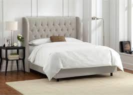 Tufted Headboard Bed Grey Fabric Headboard Bed Headboard Bed Gray Tufted Headboard Grey