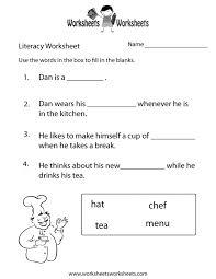 literacy worksheets worksheets releaseboard free printable
