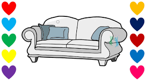 Sofa For Kids Room How To Draw Sofa For Baby Drawings And Coloring Book For Kids