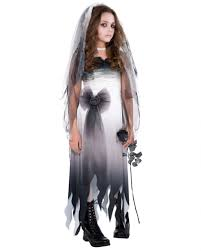 graveyard bride child costume girls ghost wedding dress horror