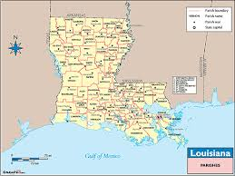 louisiana map with counties louisiana counties and county seats map by maps from maps