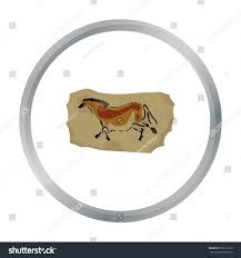 Painting Icon Cave Painting Icon Cartoon Style Isolated Stock Vector 560612725