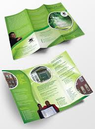 green brochure design brochure design ideas pinterest