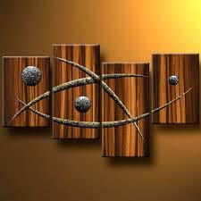 wooden modern canvas wall decor abstract painting wall