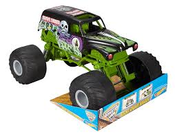 monster truck grave digger videos amazon com wheels monster jam giant grave digger truck toys
