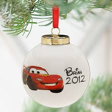 lightning mcqueen ornaments for the boys with cars stickers and