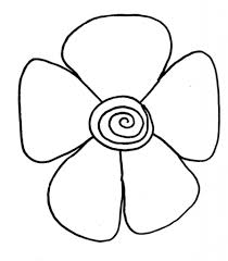 easy drawing of a flower simple flower drawing how to draw flower