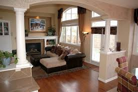 Family Room With Sectional Sofa Stylish Beige Painting Color For Cozy Family Room Ideas With L