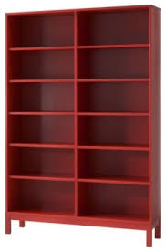 Ikea Red Cabinet Linnarp Bookcase Red Modern Bookcases Cabinets And Computer