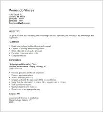 Office Clerk Resume Examples by Incredible Ideas Shipping And Receiving Resume 7 Warehouse