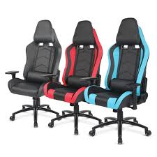 Gaming Desk Chair Blue Ikayaa Ergonomic Racing Gaming Office Computer Desk Executive