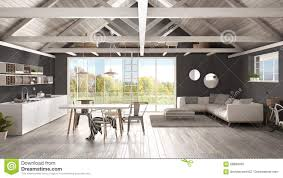 Kitchen And Bedroom Design by Minimalist Mezzanine Loft Kitchen Living And Bedroom Wooden R