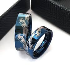rings bands images Matching rings matching wedding bands ocean wave ring tungsten jpg