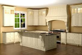 large kitchen with custom hood features large enkeboll corbels on