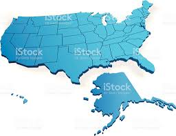 Alaska Usa Map by 3d Map Of Usa Stock Vector Art 167592883 Istock