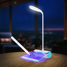 newest design rechargeable desk lamp led light with message board