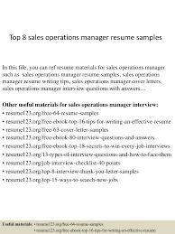 Operations Analyst Resume Sample by Top8salesoperationsmanagerresumesamples 150331205948 Conversion Gate01 Thumbnail 4 Jpg Cb U003d1427853638