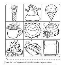 or cold activity worksheet opposites 5 projects to try