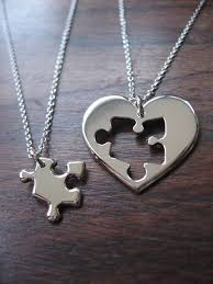 puzzle love necklace images Best friend puzzle and heart necklace pendants on wanelo jpg