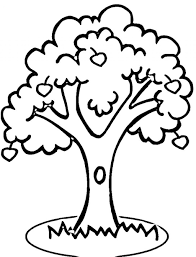 coloring pages of a tree oak tree oak tree coloring page for kids