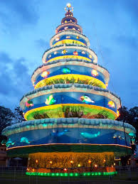 a huge christmas tree in bais city oriental negros philippines