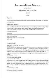 babysitting resume template babysitting resume templates sle nanny resumes basitting