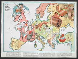 Europe Map Ww1 A World War I Conflict Map For Children That Depicted The World