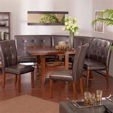 Nook Table Set Nook Table Set Exquisite Stain Cool Solid Wood And Large Breakfast