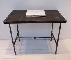 reclaimed wood desk with pipe legs industrial wood desk