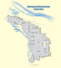 Portland Oregon On Map by Downspout Disconnection Program The City Of Portland Oregon