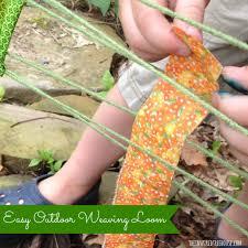 fine motor activities simple outdoor weaving loom the inspired