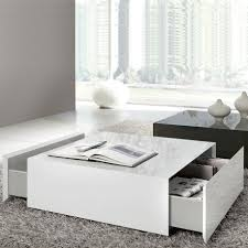 Square Living Room Table by Drawing Of Wide Designs Of White Coffee Table With Storage