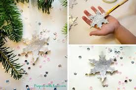 glitter snowflake ornaments with air clay projects with