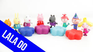 glitter play doh learn colors peppa pig ben holly disney