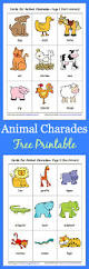 animal charades for kids free printable buggy and buddy