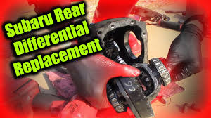 subaru rear differential replacement youtube